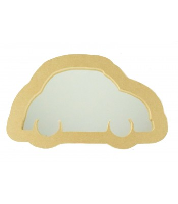 18mm Freestanding MDF Car Shape Mirror - Size Options