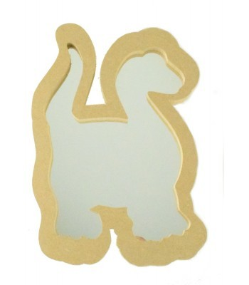 18mm Freestanding MDF Dinosaur Shape Mirror - Size Options