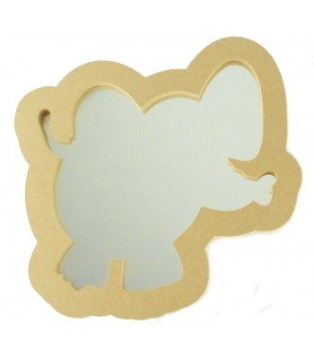 18mm MDF Elephant Mirror Shape - Size Options