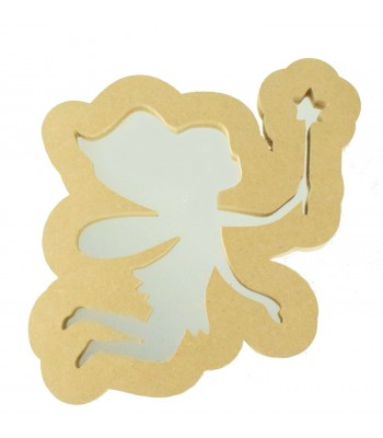 18mm Freestanding MDF Fairy Shape Mirror - Size Options