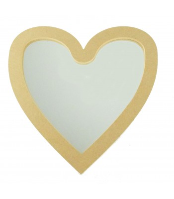 18mm MDF Heart Mirror Shape - Size Options