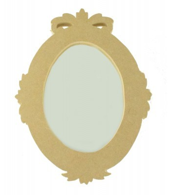 18mm Freestanding MDF Oval Shape Mirror - Size Options