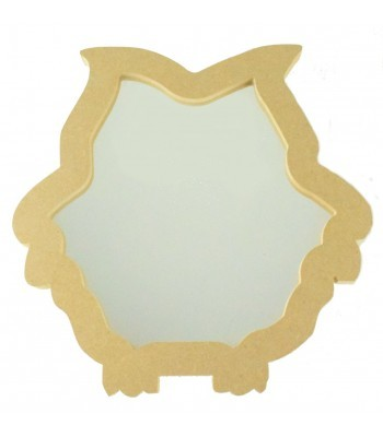 18mm Freestanding MDF Owl Shape Mirror - Size Options