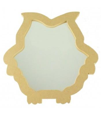 18mm Freestanding MDF Owl Shape Mirror - Size Options