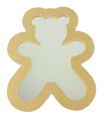 18mm Freestanding MDF Teddy Shape Mirror - Size Options