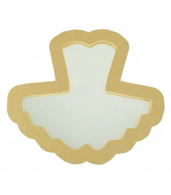 18mm Freestanding MDF Ballet Tutu Shape Mirror - Size Options