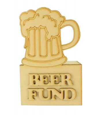 Laser Cut 'Beer Fund' Money Box