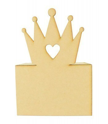 Laser Cut Princess Crown Money Box