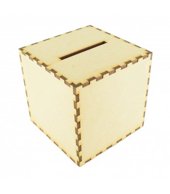 Laser cut Plain Cube Money Box