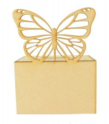 Laser Cut Detailed Butterfly Money Box