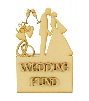 Laser Cut Detailed 'WeddingFund' Money Box