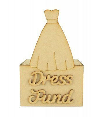 Laser Cut 'Dress Fund' Money Box