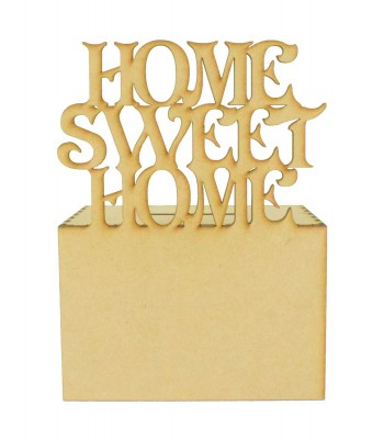 Laser Cut 'Home Sweet Home' Money Box