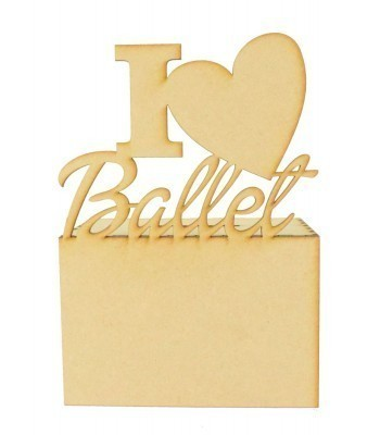 Laser Cut 'I Love Ballet' Money Box