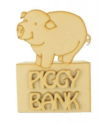 Laser Cut 'Piggy Bank' Money Box