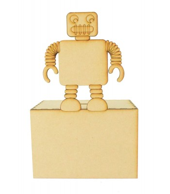 Laser Cut Robot Money Box