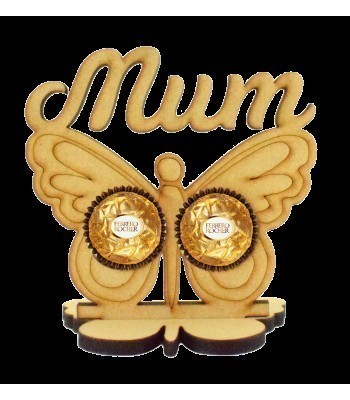 6mm Mum Butterfly Ferrero Rocher Holder on a Butterfly Stand