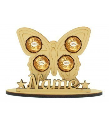 6mm Butterfly Shape Ferrero Rocher or Lindt Chocolate Ball Holder on a Stand - Stand Options