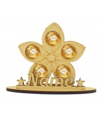 6mm Flower Shape Ferrero Rocher or Lindt Chocolate Ball Holder on a Stand - Stand Options