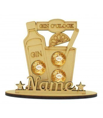 6mm Gin O'Clock Shape Ferrero Rocher or Lindt Chocolate Ball Holder on a Stand - Stand Options