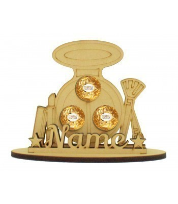 6mm Make-up Shape Ferrero Rocher or Lindt Chocolate Ball Holder on a Stand - Stand Options