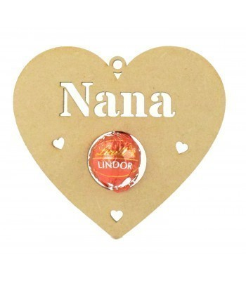 Laser Cut Personalised Mother's Day Heart Shape Ferrero Rocher or Lindt Chocolate Ball Holder