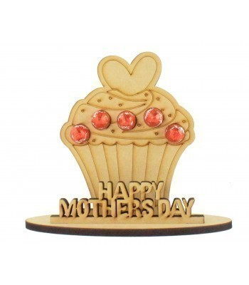 6mm Mothers Day Cupcake Shape Mini Lindt Egg Holder on a Stand - Stand Options