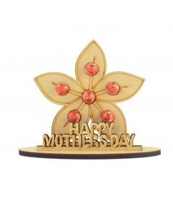 6mm Mothers Day Flower Shape Mini Lindt Egg Holder on a Stand - Stand Options