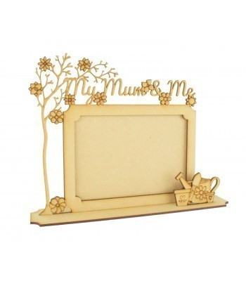 Laser Cut 'My Mum & Me' 3D Photo Frame - Options Available