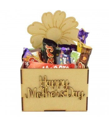 Laser Cut Mothers Day Hamper Treat Boxes - Flower