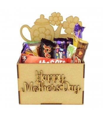 Laser Cut Mothers Day Hamper Treat Boxes - Teapot