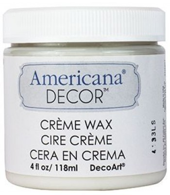Clear Creme Wax  Paint Chalk Paint (Chalky Finish) 8oz