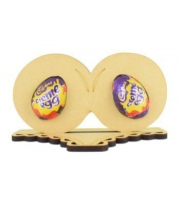 6mm Adults Creme Egg Boobs on a Pair of Knickers Shape Stand
