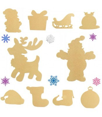 18mm Freestanding Christmas Shapes -  Pack of 10 Shapes 150mm Size
