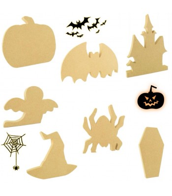 18mm Freestanding Halloween Shapes - 150mm Size Sample Pack for Crafters - AS PHOTO - STANDARD PRODUCTS