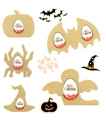 18mm Freestanding Halloween KINDER EGG Holders - Bargain Pack of 10 assorted shapes