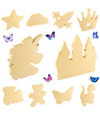 18mm Freestanding Shapes - Pack of 10 Shapes 150mm Size