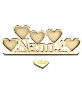 Laser Cut Family Name with Frames On Stand - 6mm thickness