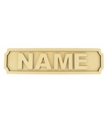 Laser cut Personalised 3D Small Size Street Signs - 6mm - Curved Corners - 400mm Width
