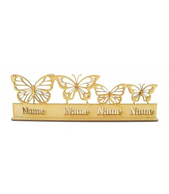 Laser Cut Personalised Butterfly Family on a Stand - 3mm