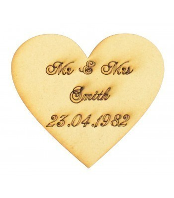 Laser Cut Personalised Drop Box Heart Token