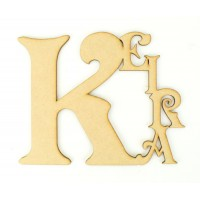 Laser Cut Personalised Tumbling Name
