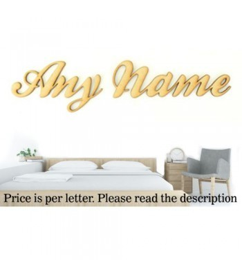 Laser Cut Personalised Large Wall Art Script Font - Options Available - Ball Font