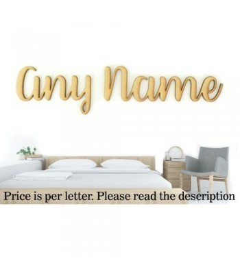 Laser Cut Personalised Large Wall Art Script Font - Options Available - Better Font