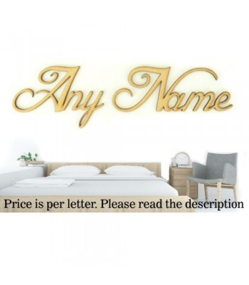 Laser Cut Personalised Large Wall Art Script Font - Options Available - Blessed Font