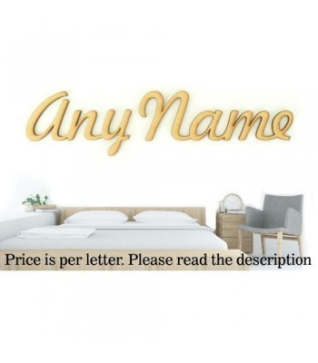 Laser Cut Personalised Large Wall Art Script Font - Options Available - Free Font