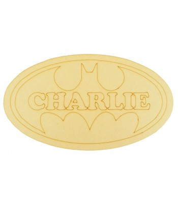 Laser Cut Personalised Batman Logo