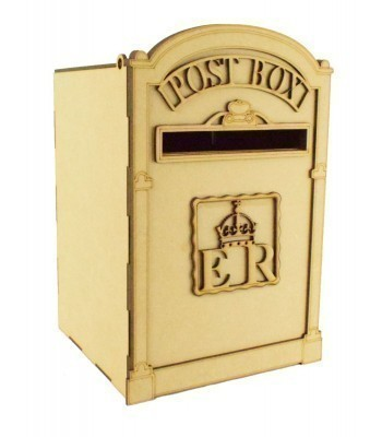 Laser Cut 3D Wedding Post Box - UK Design