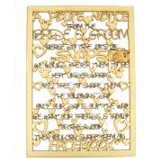 Laser Cut 'A polite notice from the Bride & Groom...' Long Quote Sign