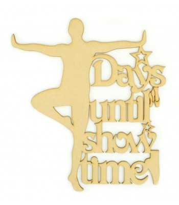 Laser Cut 'Days Until Show Time' Male Ballet Dancer Countdown Sign